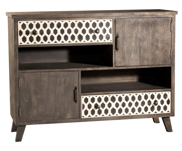 Artesa Cabinet with 2-Drawer and Door - Brown/Gray
