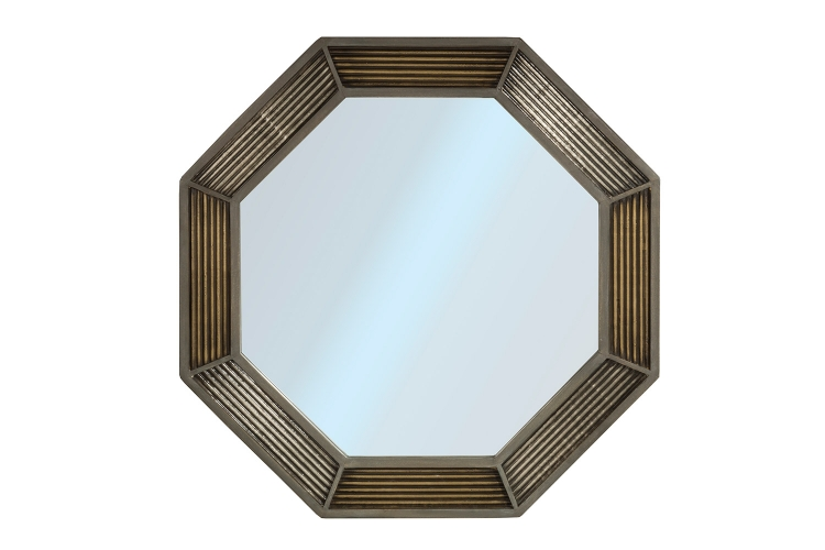 Bayshore Mirror - Distressed Graywash