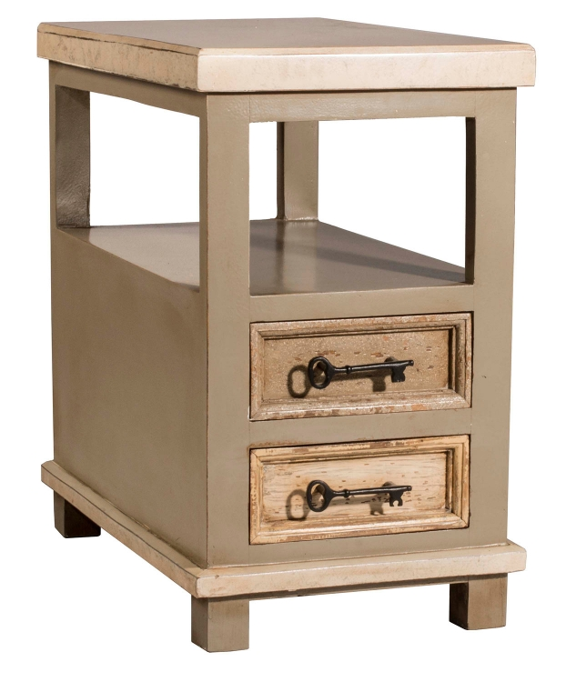 Larose End Table - White/Gray