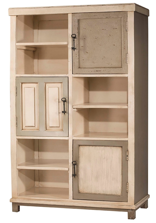 Larose Tall Accent Cabinet - White/Gray