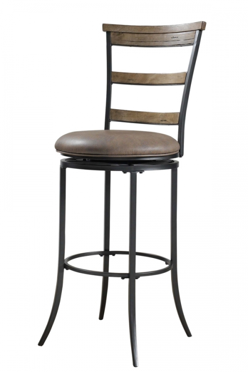 Charleston Ladder Back Swivel Counter Stool