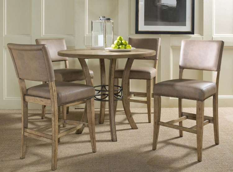 Charleston Round Counter Height Dining Set With Parson Stool