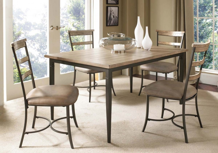 Charleston Rectangular Dining Set With Ladder Back Dining Chair