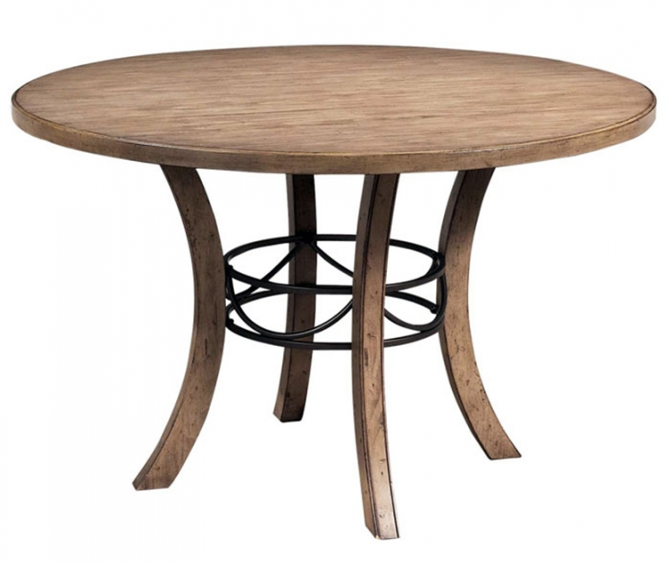Charleston Round Dining Table With Wooden Base
