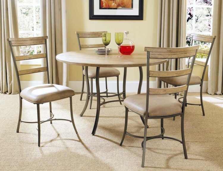 Charleston Round Dining Set With Ladder Back Dining Chair