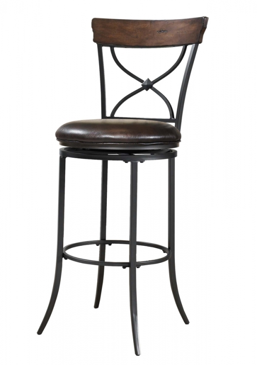 Cameron X-Back Swivel Bar Stool
