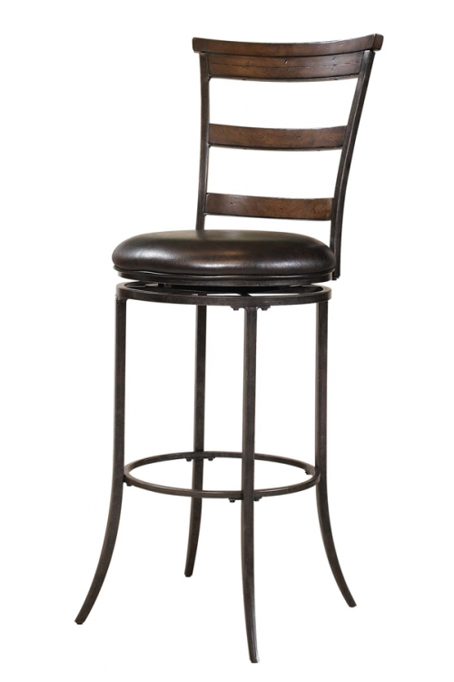 Cameron Ladder Back Swivel Bar Stool
