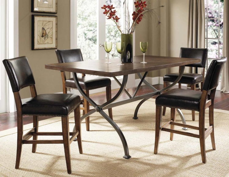 Hillsdale Cameron Rectangular Counter Height Dining Table 4671CTBR Hillsdal