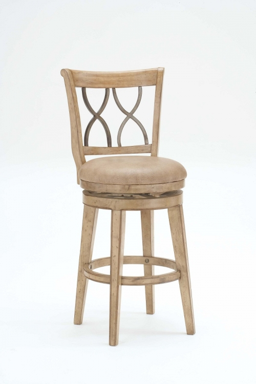 Reydon Swivel Bar Stool - White Wash