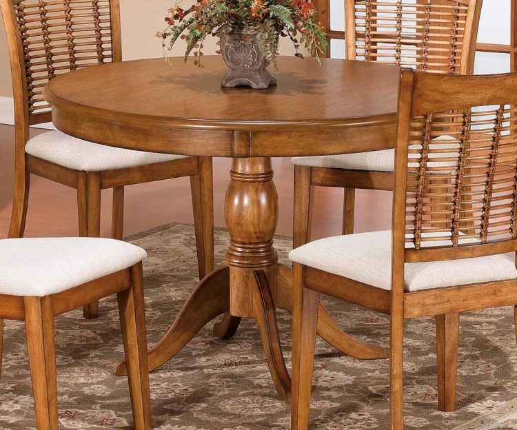 Glenmary - Bayberry Round Pedestal Table - Oak
