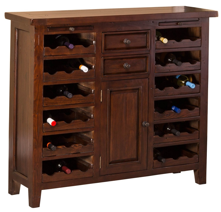 Hillsdale Tuscan Retreat 2 Door Small Cabinet Sea Blue with