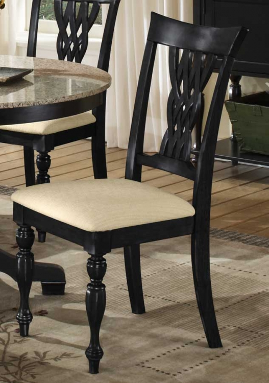 Embassy Dining Chairs - Rubbed Black