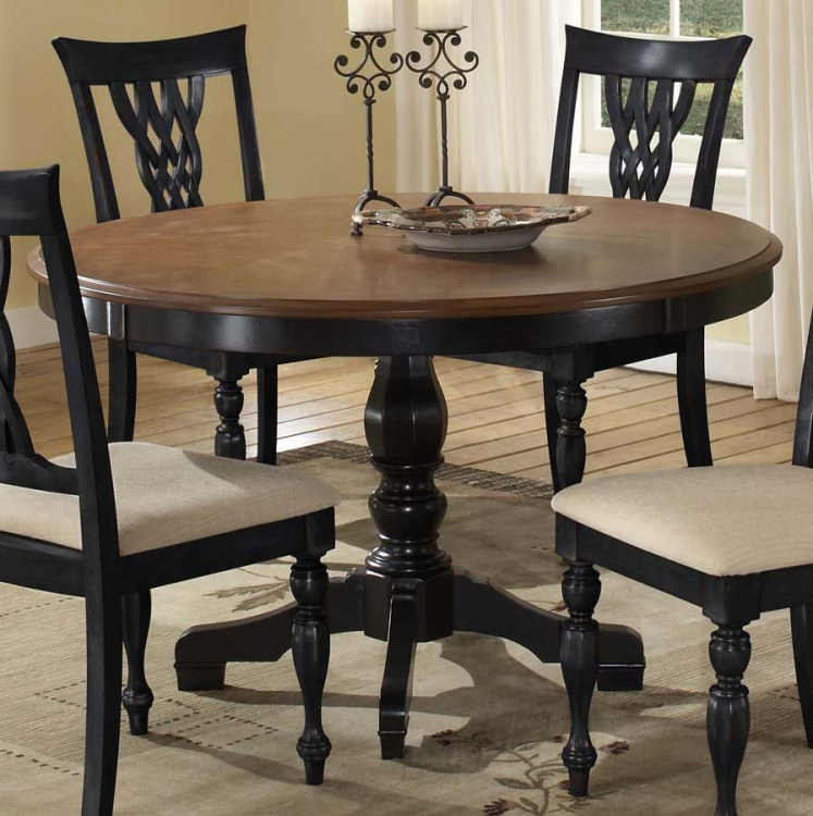 Embassy Round Pedestal Table with Wood Top