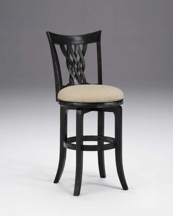 Embassy Swivel Bar Stool - Rubbed Black
