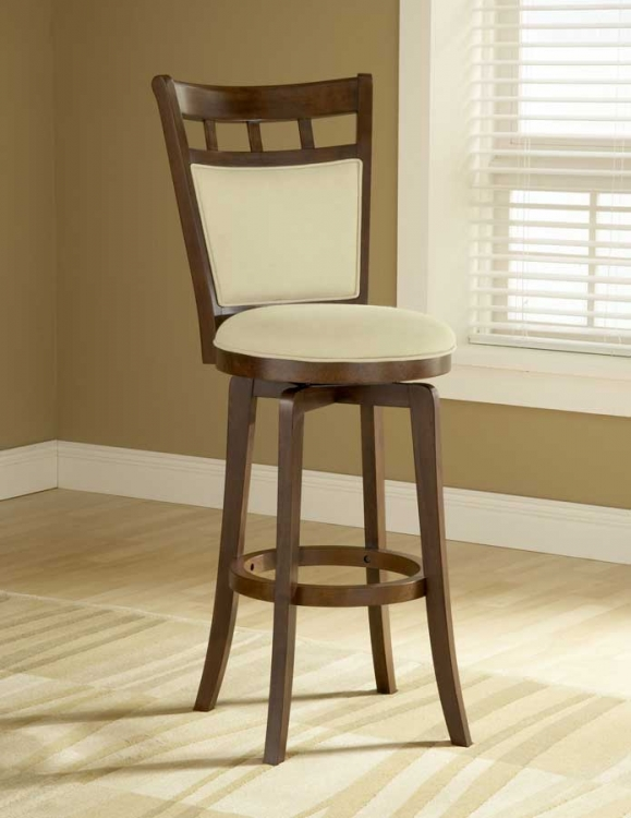 Jefferson Swivel Barstool With Cushion Back