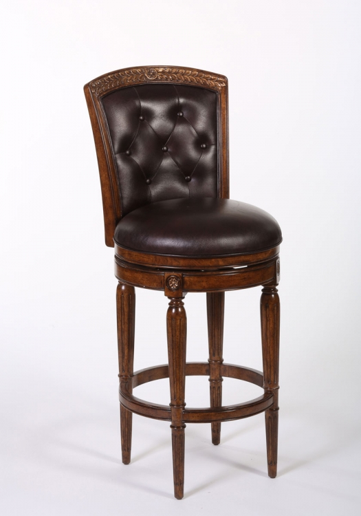 Northfield Swivel Bar Stool - Dark Cherry