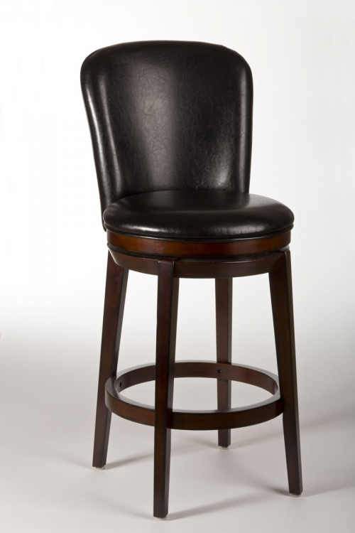 Victoria Swivel Bar Stool - Dark Brown Cherry