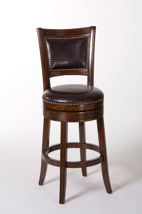 Lockefield Swivel Counter Stool - Espresso/Dark Brown PU