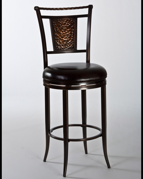 Parkside Swivel Bar Stool - Copper