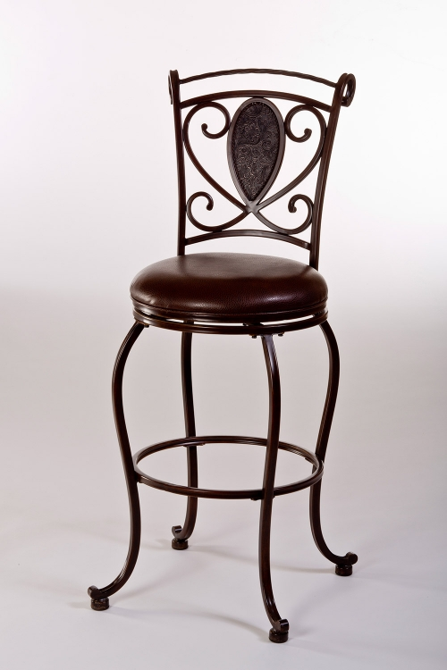 Scarton Swivel Bar Stool - Dark Chocolate/Brown PU