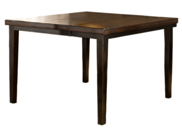 Killarney Counter Height Table - Black/ Antique Brown