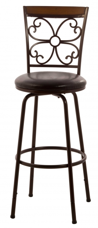 Garrison Swivel Counter/Bar Stool - Dark Brown