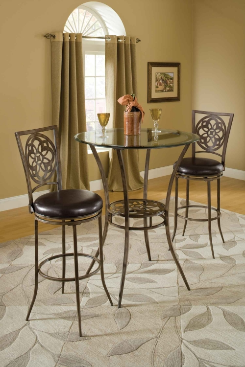Marsala 3 Piece Bistro Dining Set   Gray