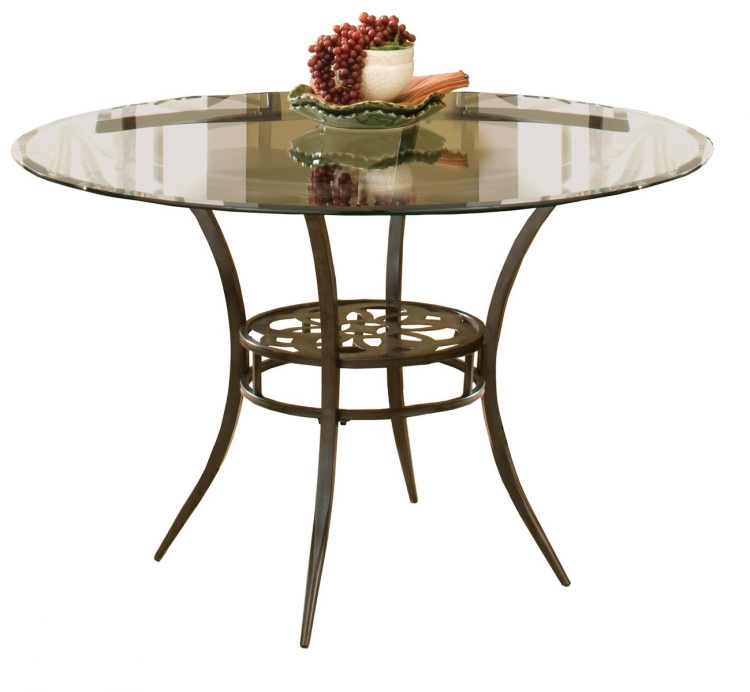 Marsala Dining Table - Gray with Brown Rub