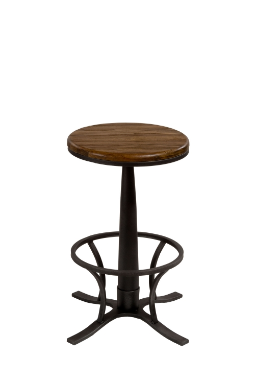 Rivage Backless Swivel Bar Stool - Steel Gray