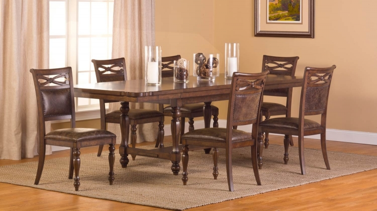 Seaton Springs 7 pc Dining Set - Weathered Walnut