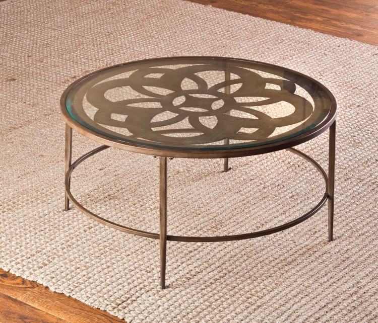 Hillsdale Marsala Coffee Table Set Glass