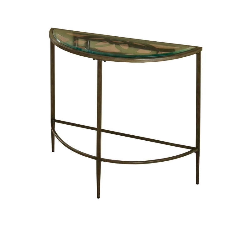 Marsala Console Table - Gray with Brown Rub