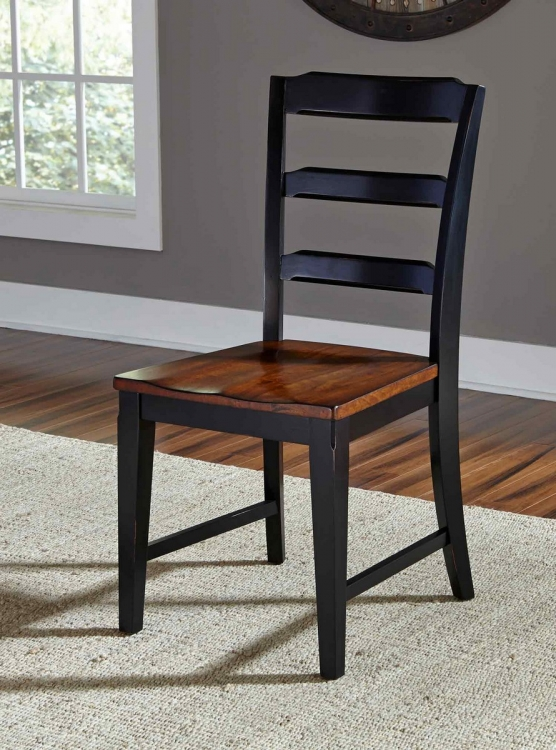 Avalon Dining Chair- Black/Cherry