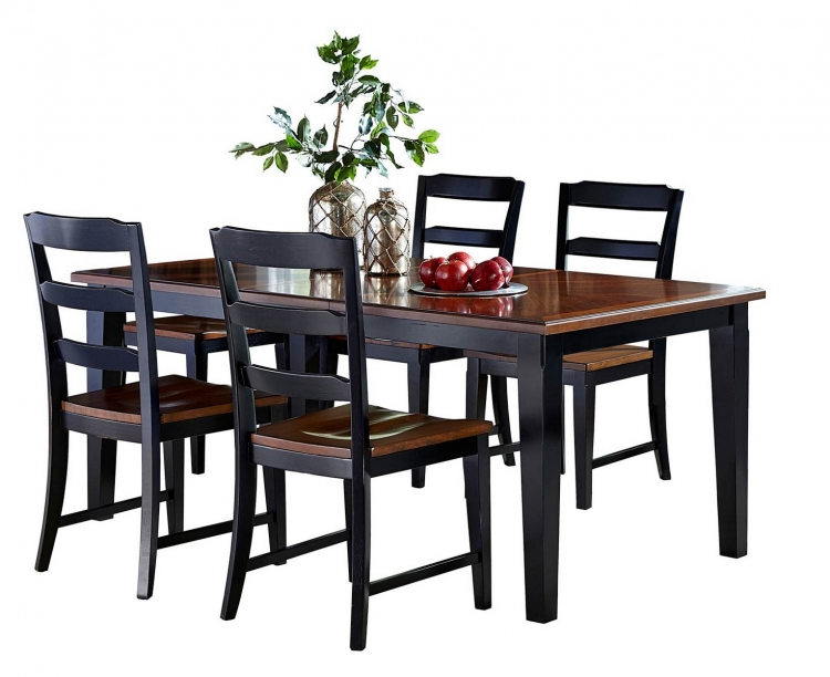 Avalon 5 PC Dining Set - Black/Cherry
