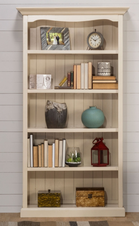 Tuscan Retreat Medium Bookcase - Solid Country White