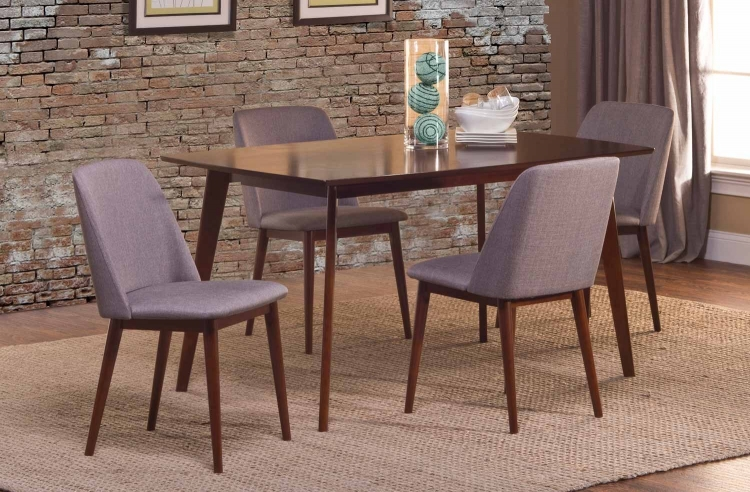 Allentown 5 Piece Dining Set - Cappuccino