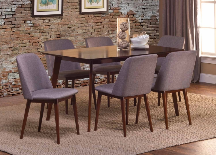 Allentown 7 Piece Dining Set - Cappuccino