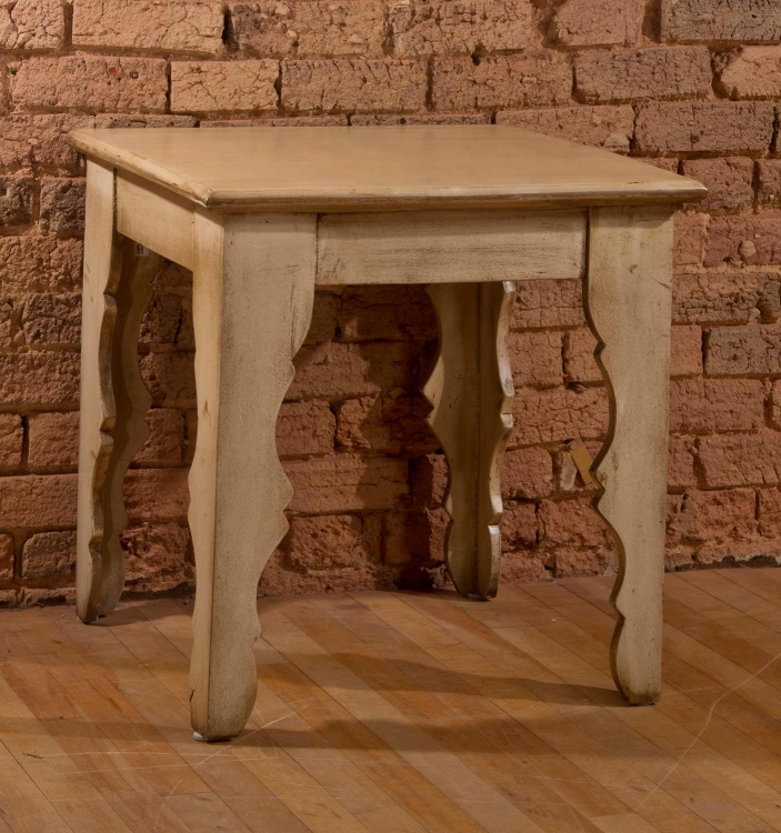 Keegan End Table - Distressed Antique White