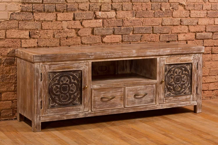 Hundley Entertainment Unit - White Wash