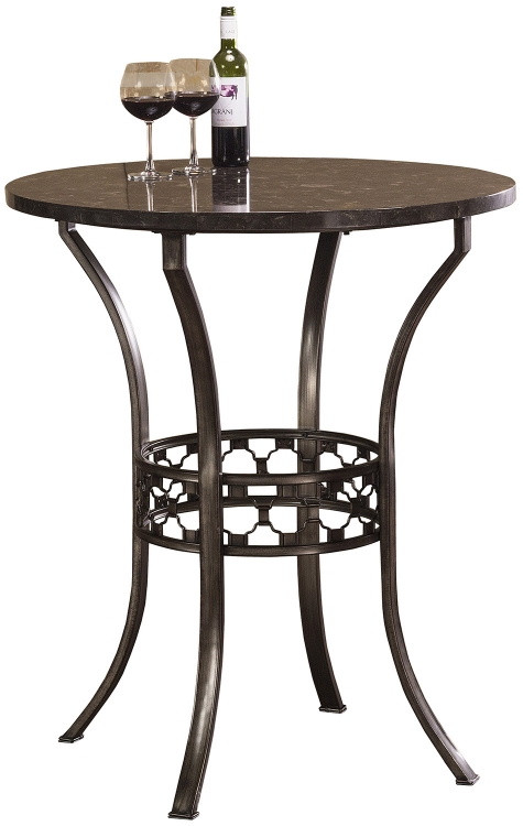 Brescello Bar Height Bistro Table - Antique Pewter/Blue Stone