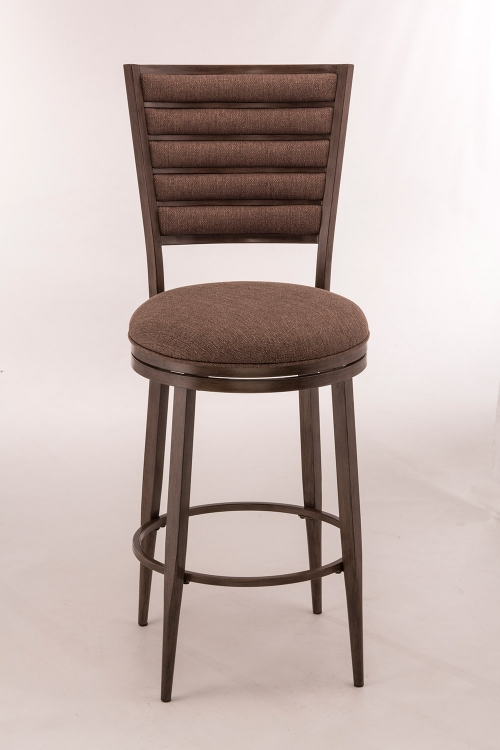 Rouen Swivel Bar Stool - Gray