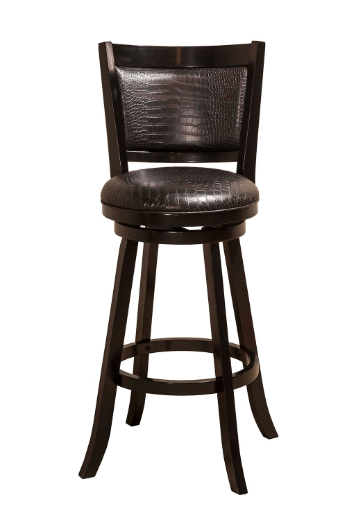 Brannon Swivel Bar Stool - Black