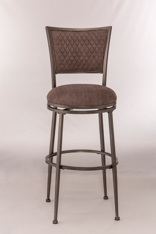 Burke Swivel Counter Stool - Distressed Pewter