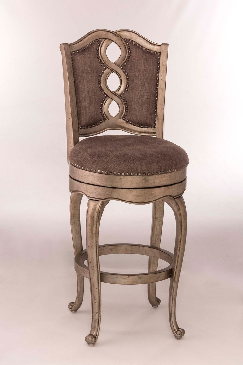Lake Side Swivel Bar Stool - Aged Silver