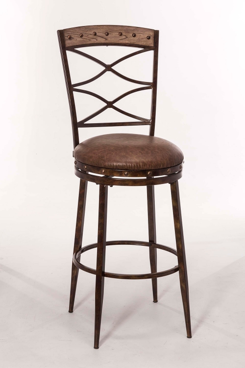 Emmons Swivel Bar Stool - Washed Gray