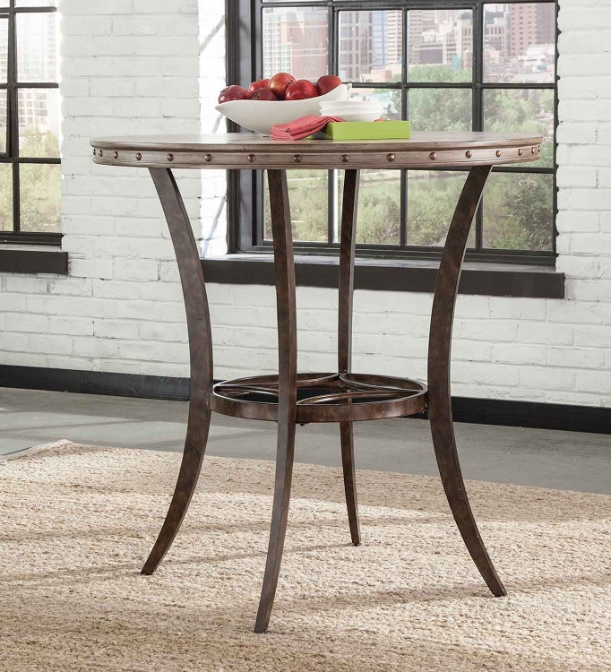 Emmons Bar Height Bistro Table - Washed Gray