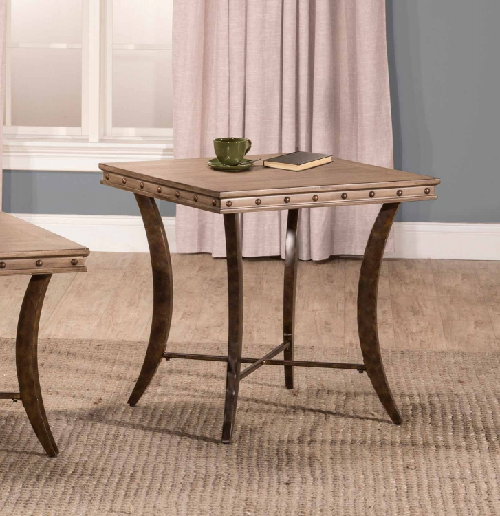 Emmons End Table - Washed Gray