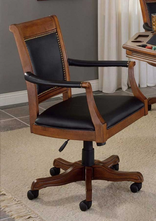 Kingston Square Leather Back Game Chair