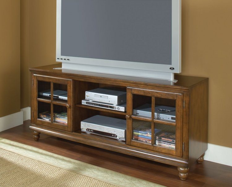 Grand Bay 61in Entertainment Console - Warm Brown