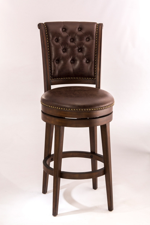 Chiswick Swivel Bar Stool - Brown Cherry